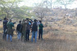 Bird-watching at Asola Wildlife Sanctuary!